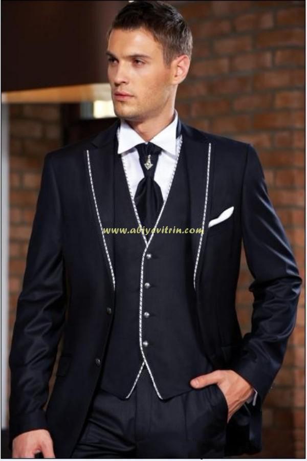 abd4a6ff57dff Lacivert damatlık takım elbise | Abiye Vitrin