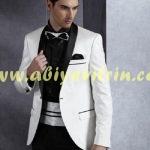 Siyah beyaz yeni sezon damatlık takım elbise