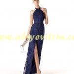 Tozlu uzun elbise modeli