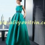 yeşil prenses abiye modelleri
