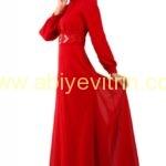 kırmızı Tesettür Abiye Elbise ve Fiyatları