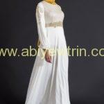ozduman-kemer-gorunumlu-beyaz-elbise